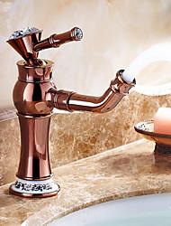 ouro rosa terminar um buraco asa simples torneira pia do banheiro