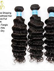 La extensión del pelo - para Mujer - Cabello natural - Negro - Ondulado Pequeño