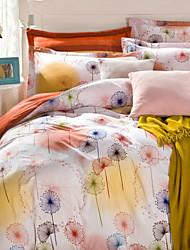 H&C ® 100% Cotton  Duvet Cover Set  4 -Piece Floral Pattern  Modern Simple Style HT420