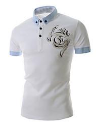 camisa de la vaina de manga corta ocasionales hombres de fistnz