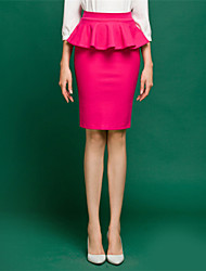 Women's High Waist Solid Color Ruffles Skirts(More Colors)
