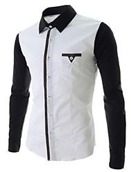 White Men's Fashion Korean Fashion Long Sleeve Shirt