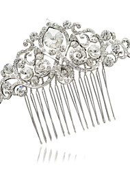 Alloy and Clear Rhinestone Hair Combs Accessories for Wedding Bridal Promt