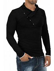 Logir Men's Round T-Shirts , Cotton Blend Long Sleeve Casual/Work Fashion Fall Logir
