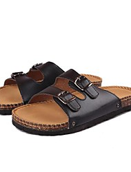 Men's Shoes Casual Leatherette Sandals Black/White