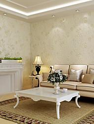 papier peint classique floral mangnolia des ventes chaudes fleur conçoit crémeuse mur blanc de couleur couvrant l'art non-tissé mur de papier