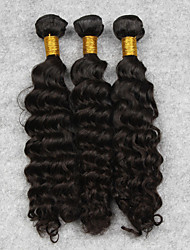 Unprocessed 3pcs 100g/pcs 10 Inch Deep Wave Extension Natural Colors,Free Shipping