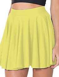 Women's Yellow Skirts , Sexy/Beach/Casual/Cute Above Knee