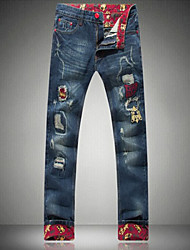 modische Casual langen Roll-up Jeans Herren-