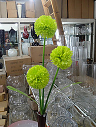 Three Heads Green Hyfrangeas Artificial Flowers Set 2