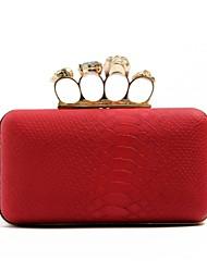 Ladies Stylish Snake Pattern Small Evening Handbag