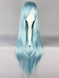 Sky Blue Long Straight Hair Wig Anime