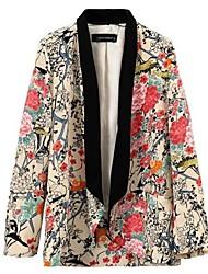 Women's Fashion Printing Leisure Suit Outerwear