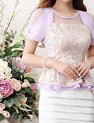 Women's Casual Lace Micro Elastic Short Sleeve Regular T-shirt