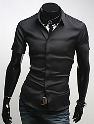 MEN - Camicie casual - Informale A camicia - Maniche corte Misto cotone