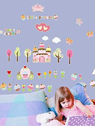 Removable Castle of Cake And Ice Cream Shaped Wall Sticker