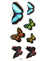 5Pcs 3D Waterproof Color Lovely Butterfly  Pattern Tattoo Stickers
