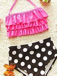 Girl's Polka Dot Swimsuit