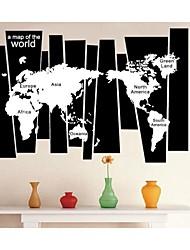 stickers muraux stickers muraux, monde créatif carte murale PVC autocollants