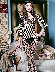 Women Nylon/Spandex Lace Large Grid Sheer Lingerie/Ultra Sexy Nightwear