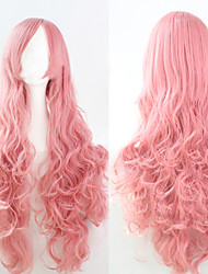 Cosplay Pink Fashion Must-have Girl High Quality Long Curly Hair Wig