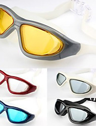 Fashion Style Swim Goggles Glasses Eyewear For Adult Men Women Adjustable Waterproof Anti-fog Big Frame Anti-UV