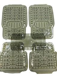 Car Buddy® 5pcs Full Set Ridged Heavy Duty PVC Floor Mats, Universal Fit Mat for Car, SUV, Van & Trucks