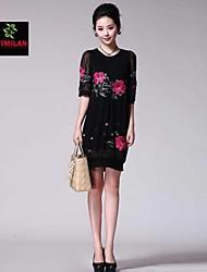 YIMILAN® Women's The New Heavy Embroidery Elegant Temperament Loose Dress