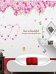 decalques de parede adesivos de parede, flores de cerejeira estilo parede pvc etiquetas