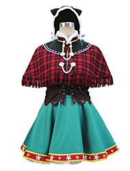Cosplay Costumes - Outros - Hanayo Koizumi - Vestido/Chapéu/Xale/Luvas/Corpete/Mais Acessórios