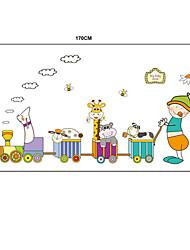animais dos desenhos animados treinar parede pvc adesivos