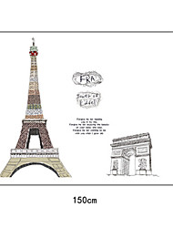 grands eiffel de construction arc de triomphe muraux PVC autocollants