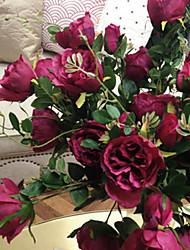 """33 """"l romantischen Rosenseidentuch Blumen fuchsia"""