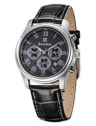 BESTDON BD9918G Men's Fashionable Waterproof Quartz Wrist Watch with Three Smalll Dials (1*CR927)