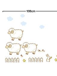 schöne drei Schafe PVC Wandaufkleber