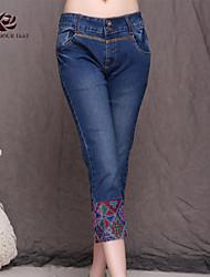 PANTALONI DONNA  -  Jeans  -  Micro-elastico  -  Medio  -  in Jeans