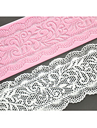 quatro c mat rendas molde do bolo de renda silicone decoração pad para o bolo assar, silicone mat fondant ferramentas bolo cor-de-rosa