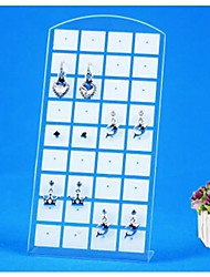 36 Hole Resin Earrings Displays(White)(1Pc)