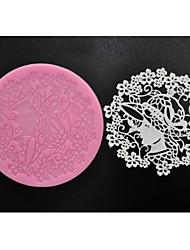 quatre c fournitures de cuisson douce dentelle moule tapis en silicone pour la pâtisserie, silicone mat fondant outils de gâteau couleur