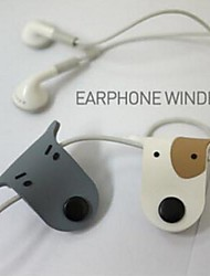 Cute Dog Earphone Wire Cable Line Bobbin Winder Kids Birthday Wedding Baby Shower Return Gift(Random Color)