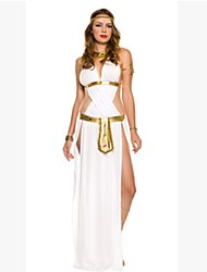 Cosplay Costumes Goddess Movie Cosplay White Patchwork Skirt / Headpiece / Necklace Halloween / Christmas / New Year Female Cotton