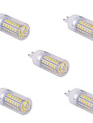 5 pcs g9 15 w 60 x SMD 5730 1500 lm 2.800-3.200 / 6000-6500 k branco quente / frio de milho branco lâmpadas ac 110/220 v