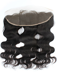 Lace Front Body Wave Human Hair Closure Dark Brown Swiss Lace gram Cap Size