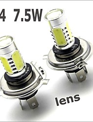 1pcs H4 High Power 7.5W 5 LED Pure White Fog Head-Light Tail Driving Car Light Lamp Bulb