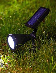 4PCS 0,1 Вт теплый белый светодиодный прожектор Солнечный сад свет лужайки