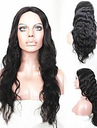 Natural curly wavy long curly black hair