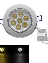 jiawen® 7w 630-700lm 3000-3200K / 6000-6500K warmes weißes / weißes Licht geführt receseed Lichter (AC 100-240V)