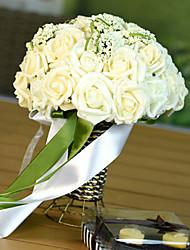 un bouquet de 30 simulation de pe rose et de fleurs de perles de mariage bouquet de mariage avec des fleurs, du champagne lumière