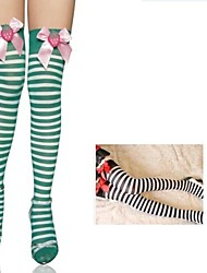 Dance Accessories Stripe Bowknot Stockings(More colors)