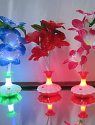 Colour Kapok Flower Vase Optical Fiber Flowers LED Night Light